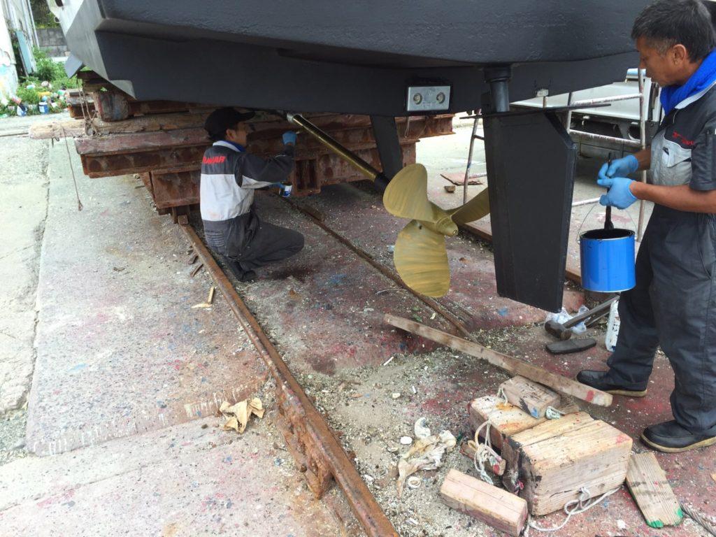 上架メンテナンス・船底加工艤装